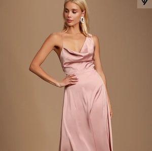 Mauve satin dress